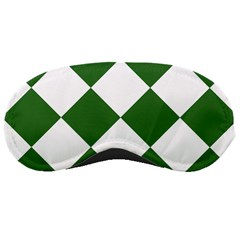 Harlequin Diamond Green White Sleeping Mask by CrypticFragmentsColors