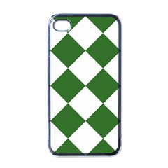 Harlequin Diamond Green White Apple Iphone 4 Case (black) by CrypticFragmentsColors