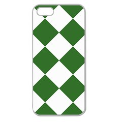 Harlequin Diamond Green White Apple Seamless Iphone 5 Case (clear) by CrypticFragmentsColors