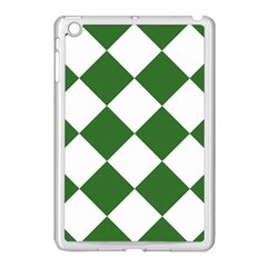 Harlequin Diamond Green White Apple Ipad Mini Case (white) by CrypticFragmentsColors