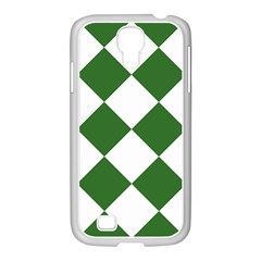 Harlequin Diamond Green White Samsung Galaxy S4 I9500/ I9505 Case (white) by CrypticFragmentsColors