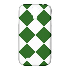 Harlequin Diamond Green White Samsung Galaxy S4 Classic Hardshell Case (pc+silicone) by CrypticFragmentsColors