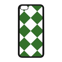 Harlequin Diamond Green White Apple Iphone 5c Seamless Case (black) by CrypticFragmentsColors