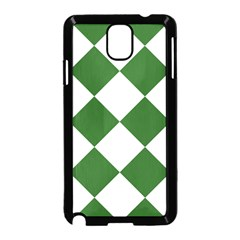 Harlequin Diamond Green White Samsung Galaxy Note 3 Neo Hardshell Case (black) by CrypticFragmentsColors