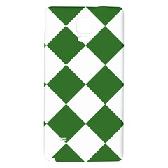 Harlequin Diamond Green White Samsung Note 4 Hardshell Back Case