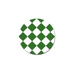 Harlequin Diamond Green White Golf Ball Marker 4 Pack by CrypticFragmentsColors