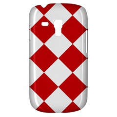 Harlequin Diamond Red White Samsung Galaxy S3 Mini I8190 Hardshell Case by CrypticFragmentsColors