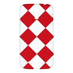 Harlequin Diamond Red White Samsung Galaxy S4 I9500/i9505 Hardshell Case by CrypticFragmentsColors