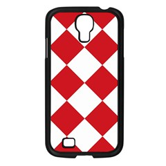 Harlequin Diamond Red White Samsung Galaxy S4 I9500/ I9505 Case (black) by CrypticFragmentsColors