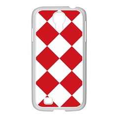 Harlequin Diamond Red White Samsung Galaxy S4 I9500/ I9505 Case (white) by CrypticFragmentsColors