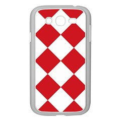 Harlequin Diamond Red White Samsung Galaxy Grand Duos I9082 Case (white) by CrypticFragmentsColors