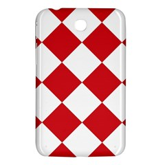 Harlequin Diamond Red White Samsung Galaxy Tab 3 (7 ) P3200 Hardshell Case  by CrypticFragmentsColors