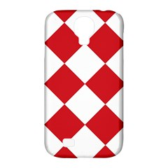 Harlequin Diamond Red White Samsung Galaxy S4 Classic Hardshell Case (pc+silicone) by CrypticFragmentsColors