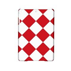 Harlequin Diamond Red White Apple Ipad Mini 2 Hardshell Case by CrypticFragmentsColors