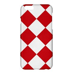 Harlequin Diamond Red White Apple Iphone 6 Plus Hardshell Case by CrypticFragmentsColors