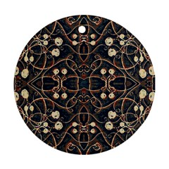 Victorian Style Grunge Pattern Round Ornament by dflcprints