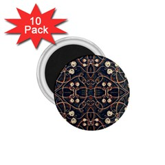 Victorian Style Grunge Pattern 1 75  Button Magnet (10 Pack) by dflcprints