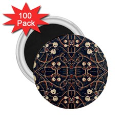 Victorian Style Grunge Pattern 2 25  Button Magnet (100 Pack) by dflcprints