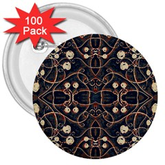 Victorian Style Grunge Pattern 3  Button (100 Pack) by dflcprints