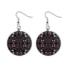 Victorian Style Grunge Pattern Mini Button Earrings by dflcprints