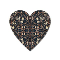 Victorian Style Grunge Pattern Magnet (heart) by dflcprints