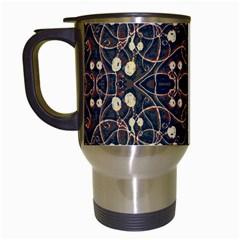 Victorian Style Grunge Pattern Travel Mug (white) by dflcprints
