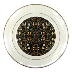Victorian Style Grunge Pattern Porcelain Display Plate by dflcprints