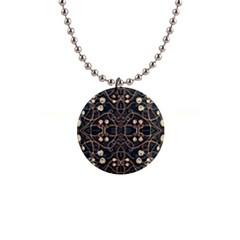 Victorian Style Grunge Pattern Button Necklace by dflcprints