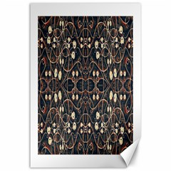 Victorian Style Grunge Pattern Canvas 24  X 36  (unframed) by dflcprints