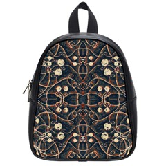Victorian Style Grunge Pattern School Bag (small) by dflcprints