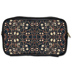Victorian Style Grunge Pattern Travel Toiletry Bag (two Sides) by dflcprints