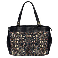 Victorian Style Grunge Pattern Oversize Office Handbag (two Sides) by dflcprints