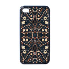 Victorian Style Grunge Pattern Apple Iphone 4 Case (black) by dflcprints