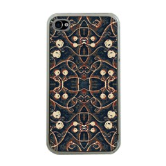 Victorian Style Grunge Pattern Apple Iphone 4 Case (clear) by dflcprints
