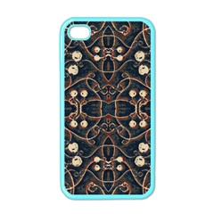 Victorian Style Grunge Pattern Apple Iphone 4 Case (color) by dflcprints