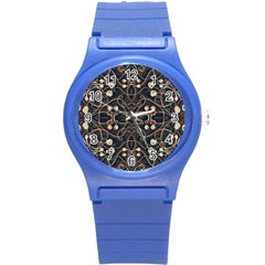 Victorian Style Grunge Pattern Plastic Sport Watch (small) by dflcprints