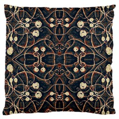 Victorian Style Grunge Pattern Large Cushion Case (single Sided)  by dflcprints
