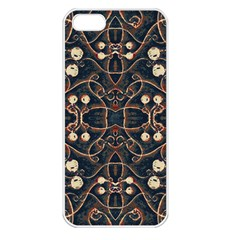 Victorian Style Grunge Pattern Apple Iphone 5 Seamless Case (white) by dflcprints