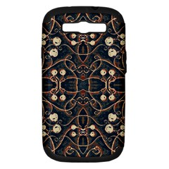 Victorian Style Grunge Pattern Samsung Galaxy S Iii Hardshell Case (pc+silicone) by dflcprints