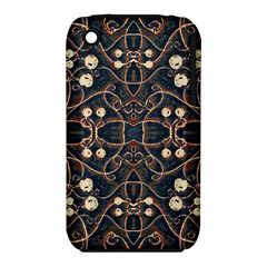 Victorian Style Grunge Pattern Apple Iphone 3g/3gs Hardshell Case (pc+silicone) by dflcprints
