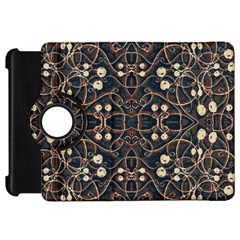 Victorian Style Grunge Pattern Kindle Fire Hd Flip 360 Case by dflcprints