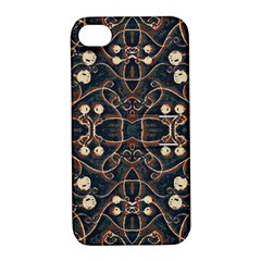 Victorian Style Grunge Pattern Apple Iphone 4/4s Hardshell Case With Stand by dflcprints