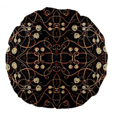 Victorian Style Grunge Pattern 18  Premium Flano Round Cushion  by dflcprints