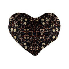 Victorian Style Grunge Pattern 16  Premium Flano Heart Shape Cushion  by dflcprints