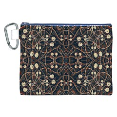 Victorian Style Grunge Pattern Canvas Cosmetic Bag (xxl) by dflcprints