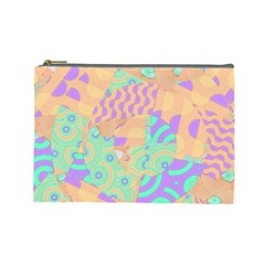 Tropical Summer Fruit Orange Lime Berry Cosmetic Bag (large)