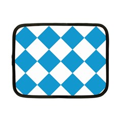 Harlequin Diamond Argyle Turquoise Blue White Netbook Sleeve (small)