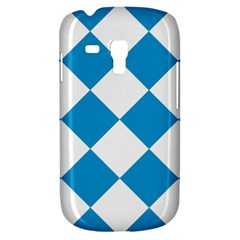 Harlequin Diamond Argyle Turquoise Blue White Samsung Galaxy S3 Mini I8190 Hardshell Case by CrypticFragmentsColors