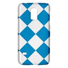 Harlequin Diamond Argyle Turquoise Blue White Samsung Galaxy S5 Mini Hardshell Case