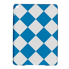 Harlequin Diamond Argyle Turquoise Blue White Apple Ipad Air 2 Hardshell Case